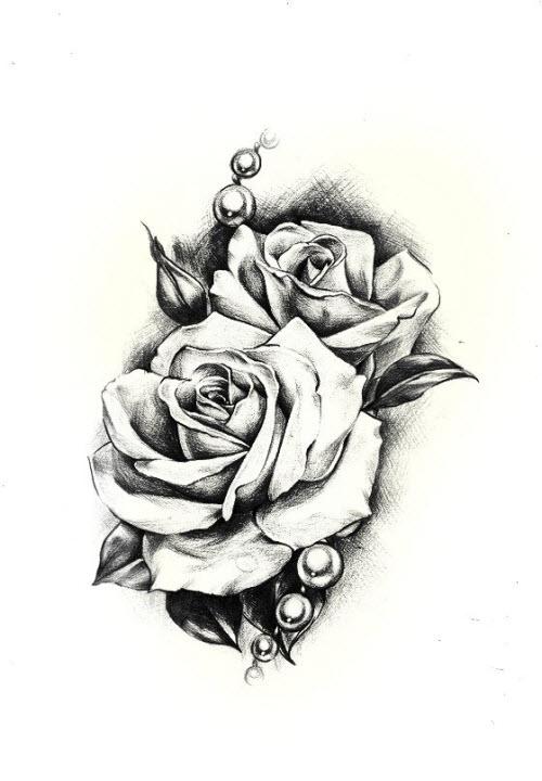 Эскизы тату роз на руку фото - 2