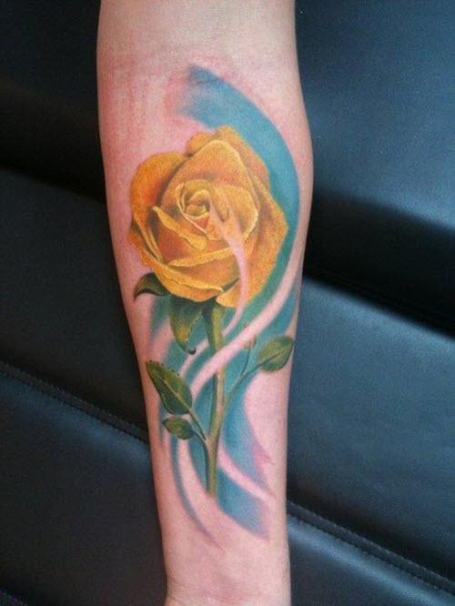 Эскизы тату роз на руку фото - 4