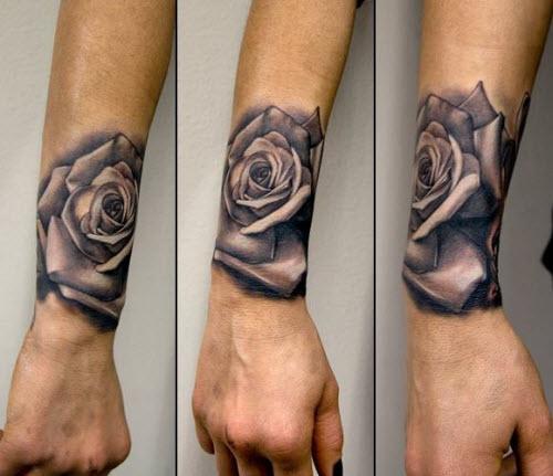 Эскизы тату роз на руку фото - 5