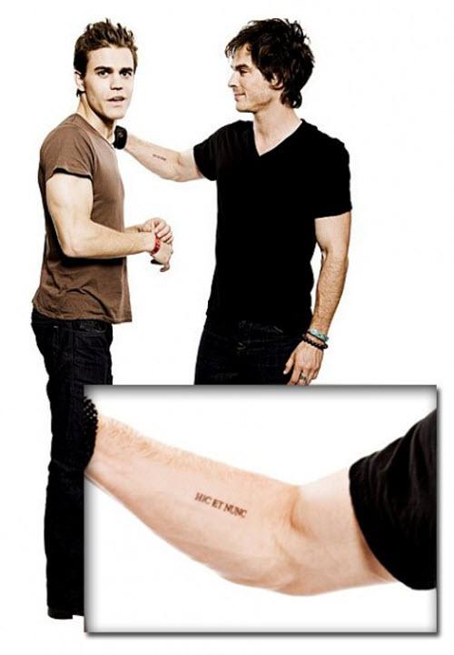 Здесь и сейчас на латыни тату фото - 4
