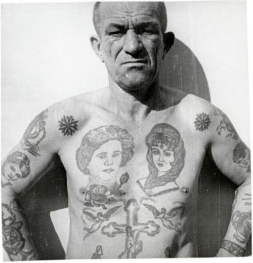 Звезды на ключицах тату тюремные значение фото - 6
